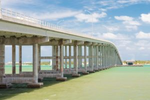 The Key Biscayne bridge in Miami