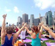 Des cours de yoga à l'œil à New York