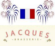 Menu spécial 14 juillet à la brasserie Jacques