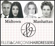 Filles & Garçons est une salon de coiffure mixte à Midtown Manhattan