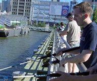 Une partie de pêche au bord de la Hudson River