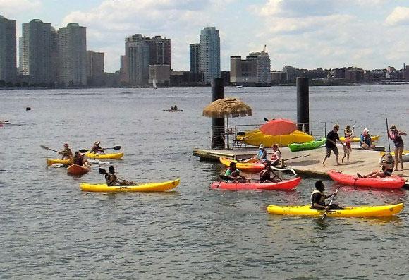 Une virée en kayak gratuite à NYC