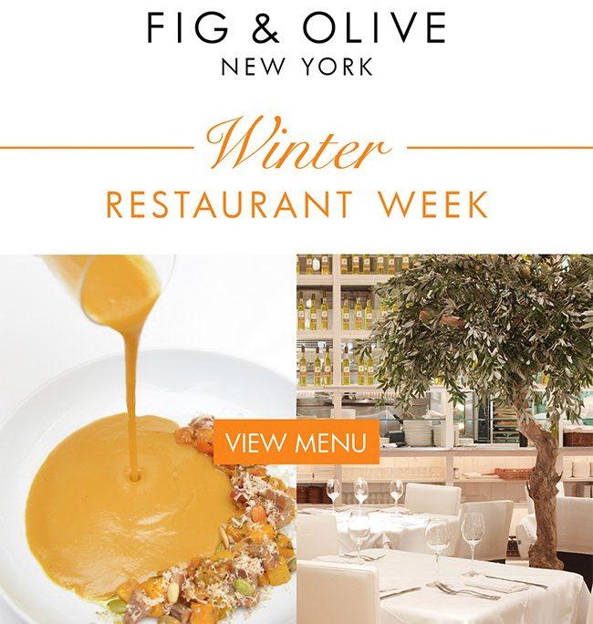 Fig Olive Restaurant Week