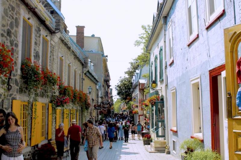 Dans les rues de Québec