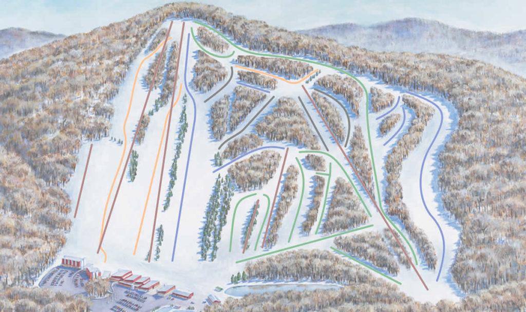 skier-neige-montage-pistes-ski-new-york-beer-creek-mountain-map