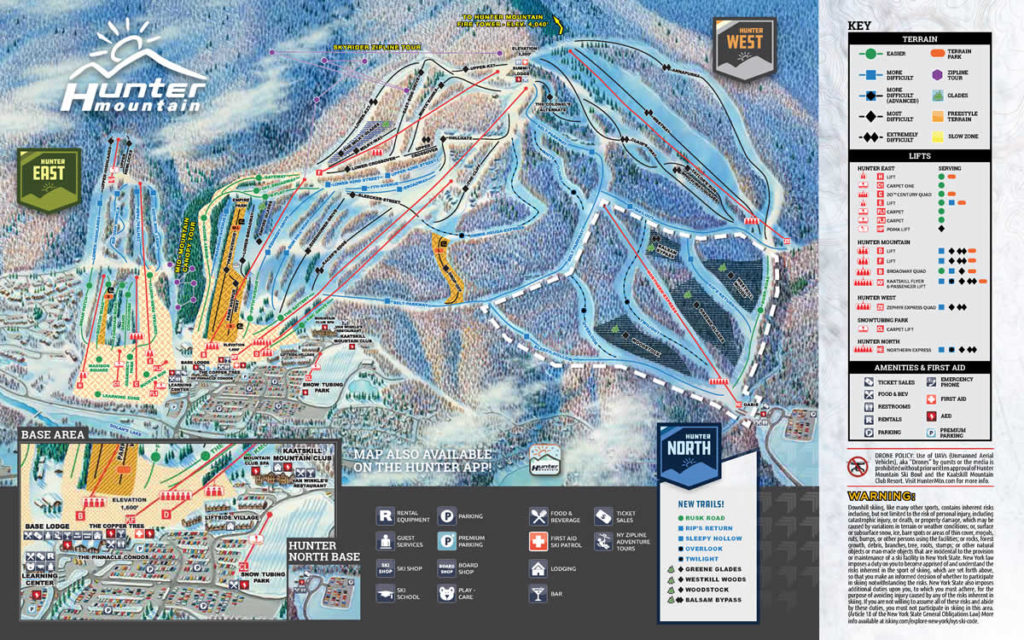 skier-neige-montage-pistes-ski-new-york-camel-back-map-hunter