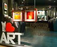 Ouverture d'une galerie d'art au nouveau concept...