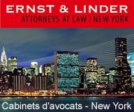 Ernst Linder, cabinet d'avocats à New York