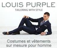 Louis Purple realise des costumes et des vêtements sur mesure dans des tissus italiens et à un prix abordable