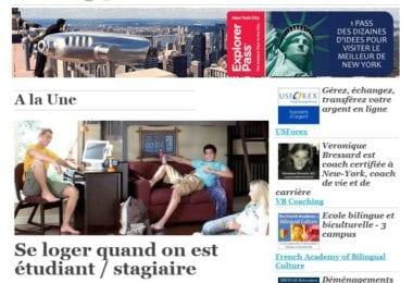 La newsletter French District New York du Jeudi 9 Octobre 2014 - Se loger quand on est etudiant / stagiaire