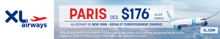 XL Airways - New York Paris - banner