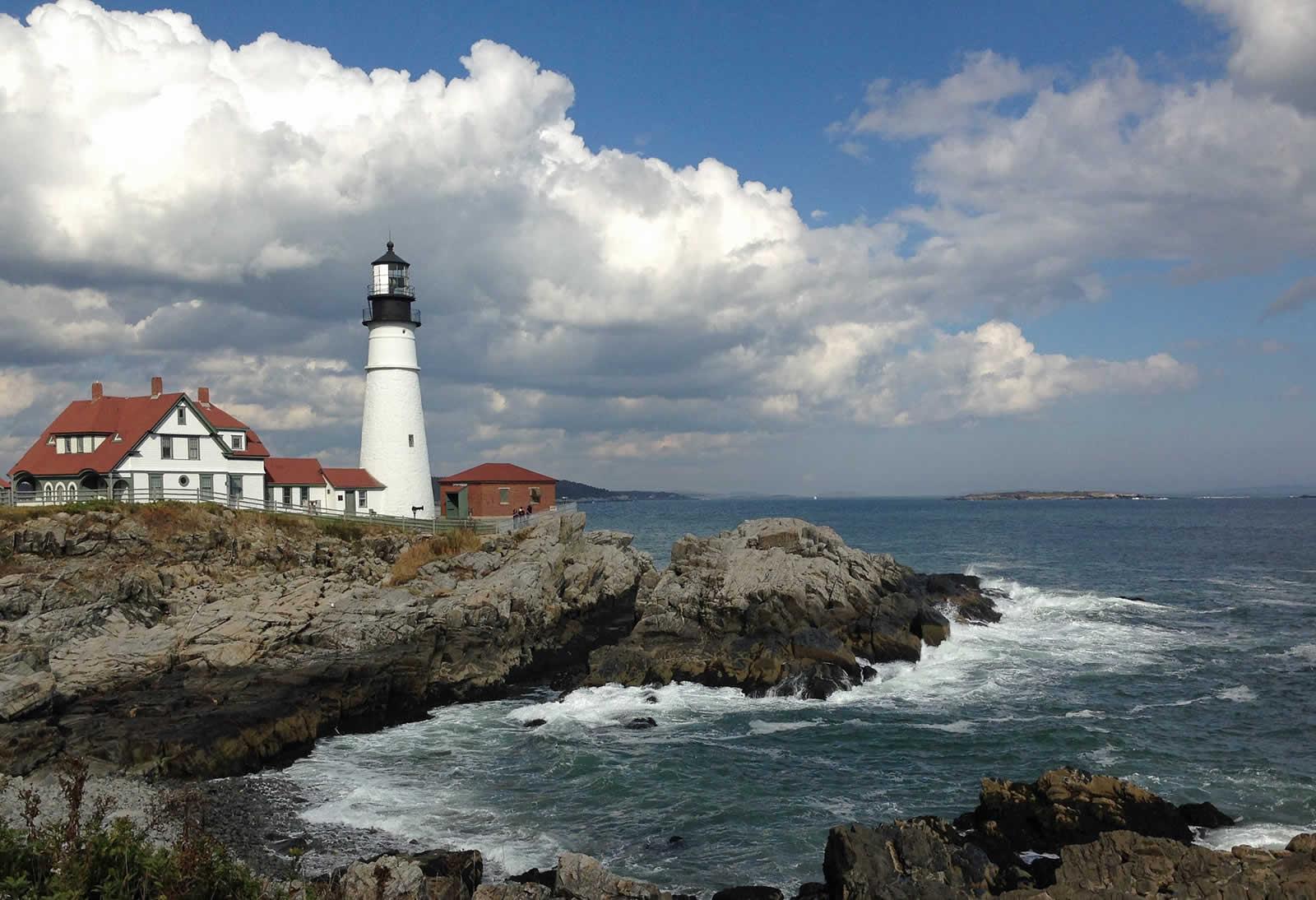 Le long de la côte de la Nouvelle-Angleterre
