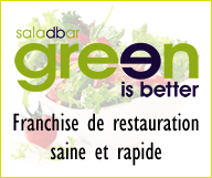 Green Is Better® Salad Restaurant Franchise tout compris + Visa E2