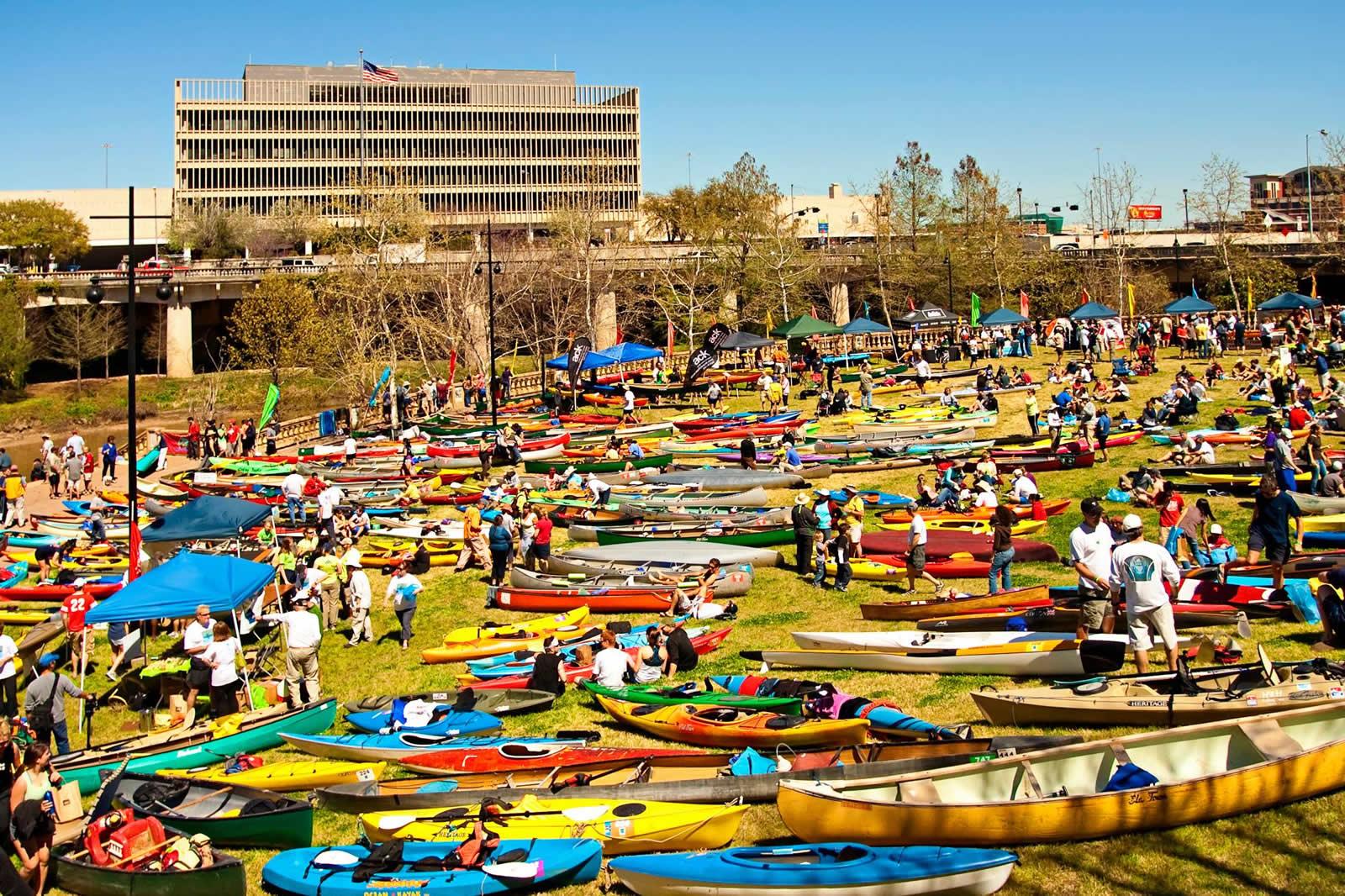Une virée en canoë-kayak sur le Buffalo Bayou