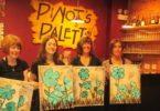Pinot's Palette, apprendre à peindre un verre de vin à la main au Texas