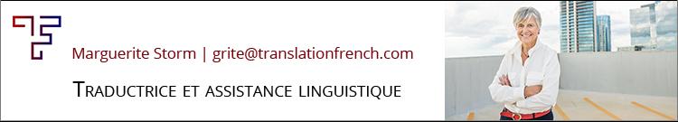Marguerite Storm, Traductrice anglais-français et  français-anglais