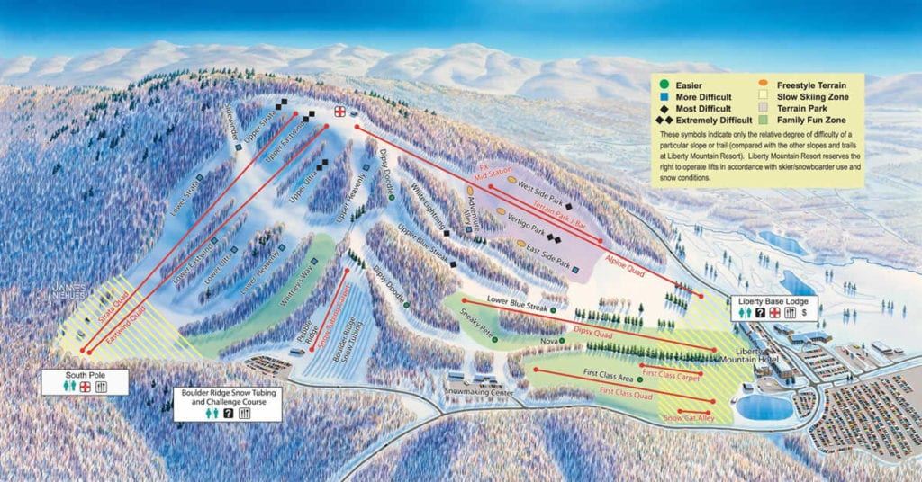 faire-ski-skier-pres-de-d-c-liberty-mountain-resort