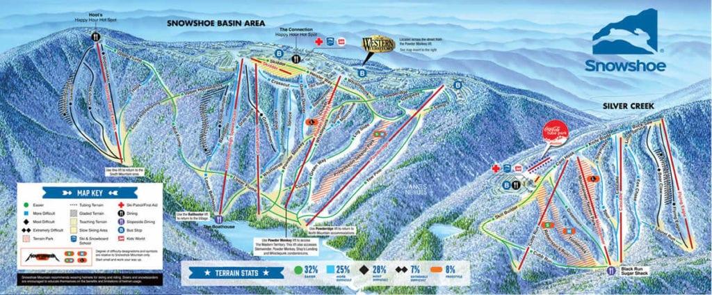 faire-ski-skier-pres-de-d-c-snowshoe-mountain-resort-maps