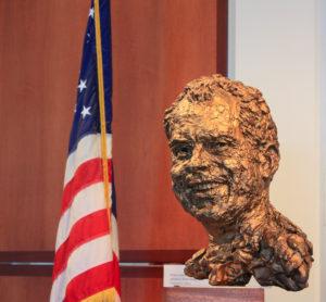 Bust of President Nixon at the Richard Nixon Presidential Libra