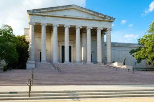 La National Gallery of Art au National Mall à Washington D.C. — Photo by kmiragaya