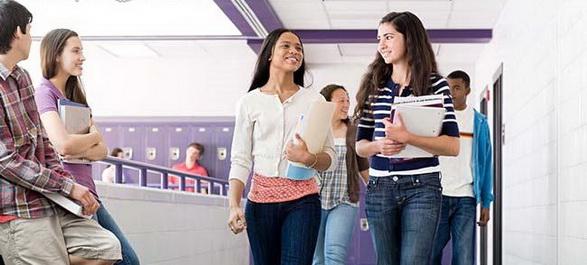 L'entrée au lycée américain