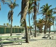 Une case sur la plus belle plage de Key Biscayne