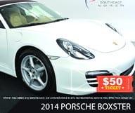 50$ contre Porsche Boxster